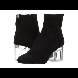 Steve Madden Lusty Statement Clear Heel Suede Boot